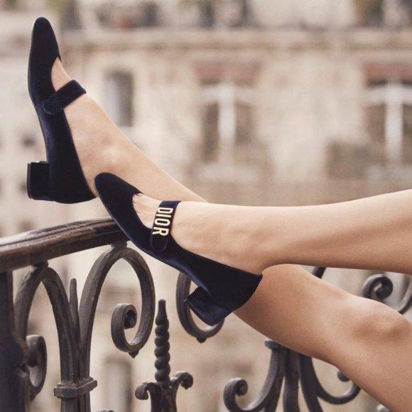 Christian Dior Black Baby Doll Ballet